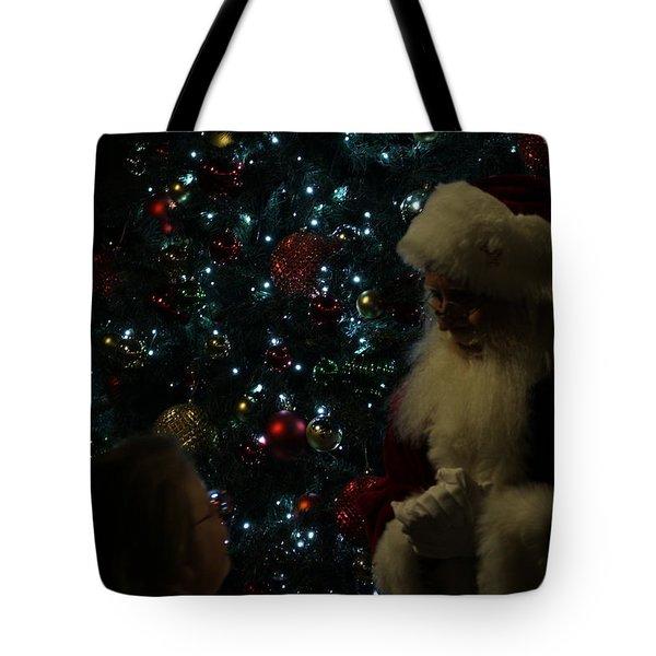 Visit With Santa Tote Bag