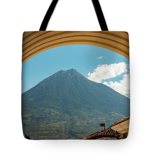 Tote Bag featuring the photograph Volcan De Agua Antigua Guatemala by Tim Hester