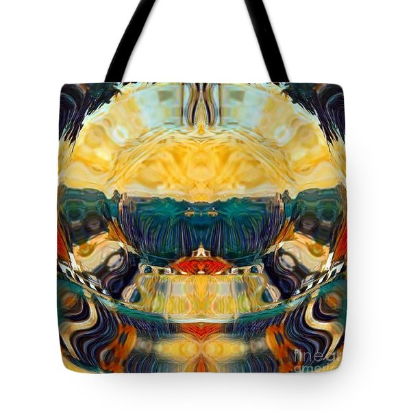 Tote Bag featuring the digital art Volcano 2.0 by A zakaria Mami