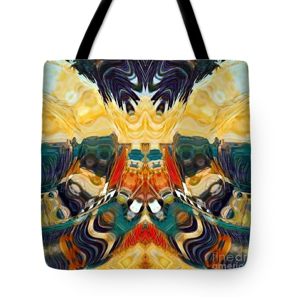Tote Bag featuring the digital art Volcano by A zakaria Mami