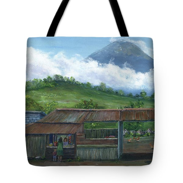 Volcano Agua, Guatemala, With Fruit Stand Tote Bag