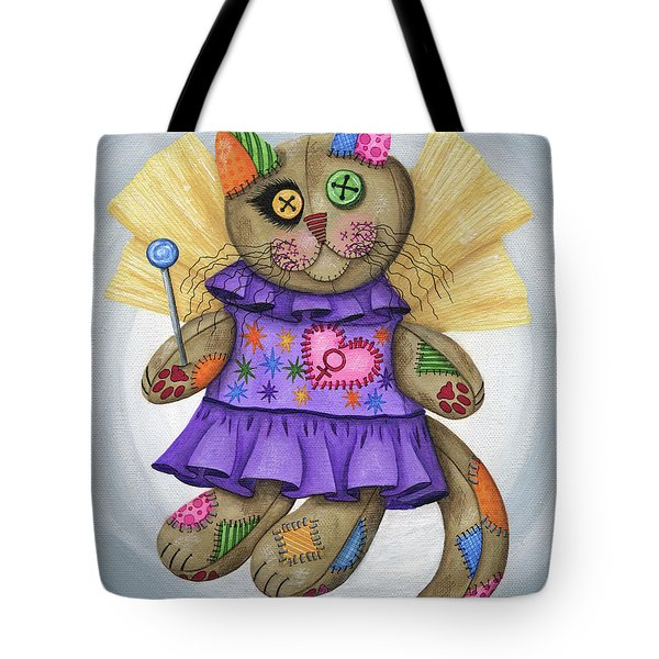 Voodoo Empress Fairy Cat Doll - Patchwork Cat Tote Bag