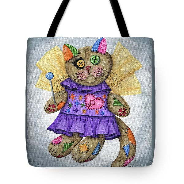 Voodoo Empress Fairy Cat Doll - Patchwork Cat Tote Bag