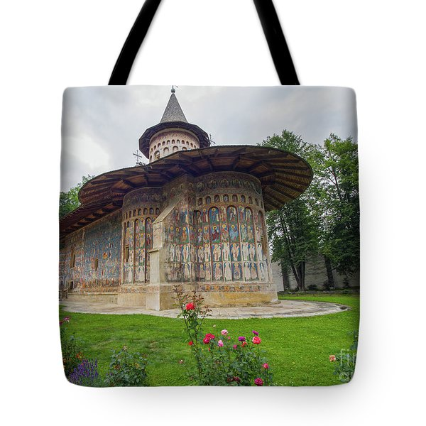 Voronet Monastery Painted Church In Moldavia Tote Bag