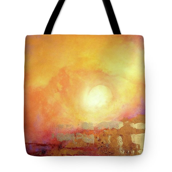 Tote Bag featuring the painting Vortex Of Light by Valerie Anne Kelly