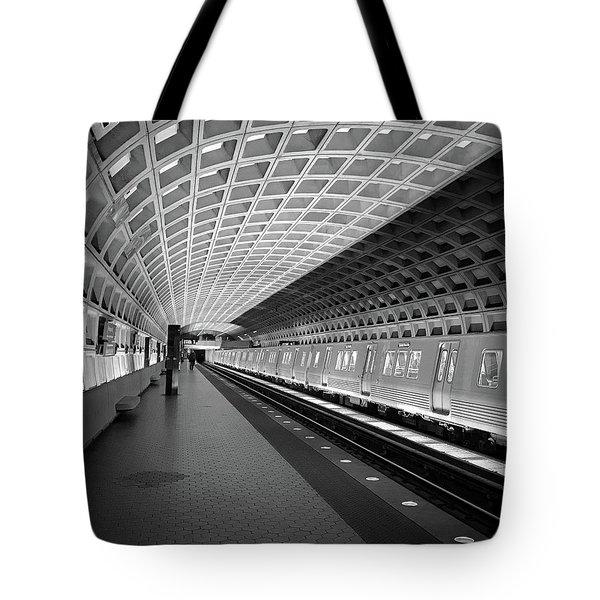 Waiting At Pentagon City Station Tote Bag