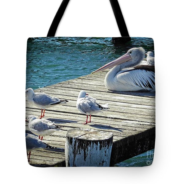 Waiting For A Feed Tote Bag