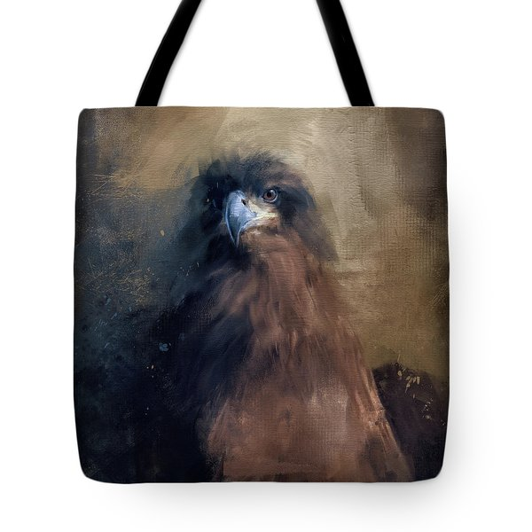 Tote Bag featuring the painting Waiting In The Dark - Eagle Art by Jai Johnson
