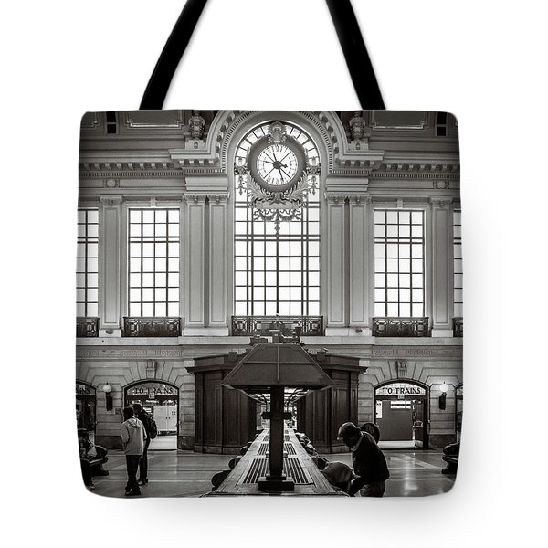 Tote Bag featuring the photograph Waiting Room by Steve Stanger