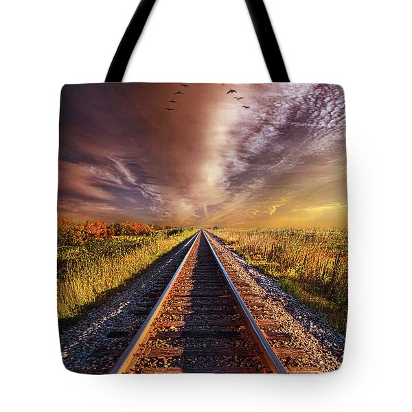 Tote Bag featuring the photograph Walk The Line by Phil Koch