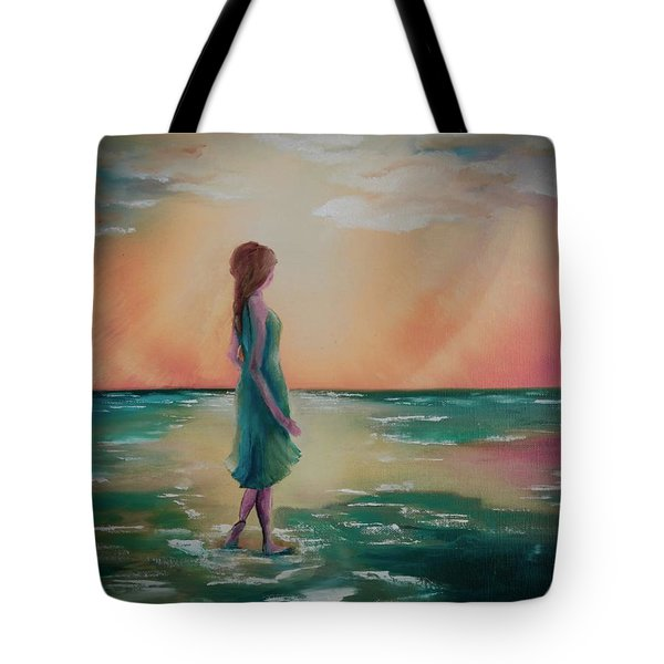 Walk Through Water Tote Bag