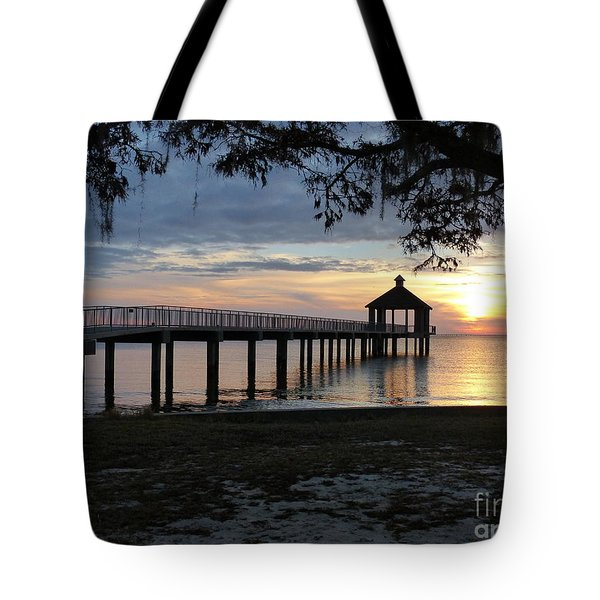 Walking Bridge To The Gazebo Tote Bag