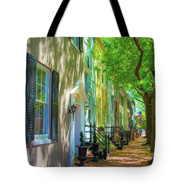 Walking On Duke Street Tote Bag