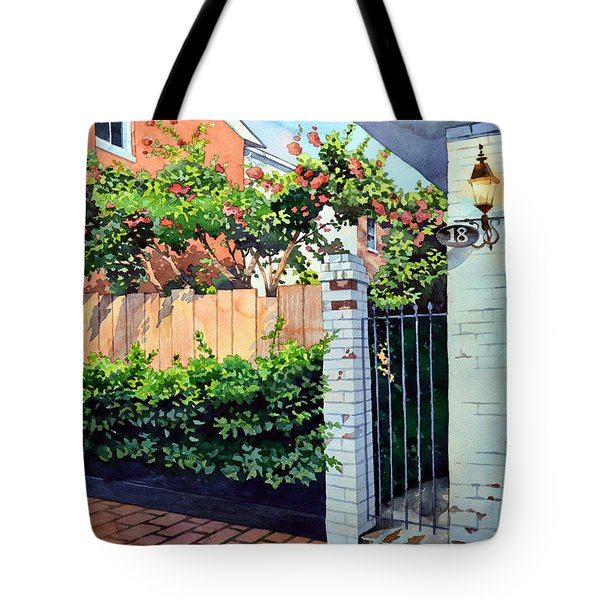 Walking On Jefferson Tote Bag