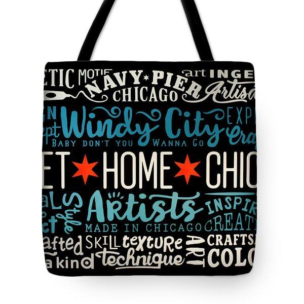 Wall Art Chicago Tote Bag