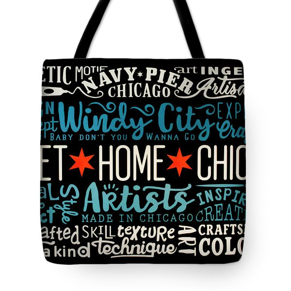 Wall Art Chicago Tote Bag
