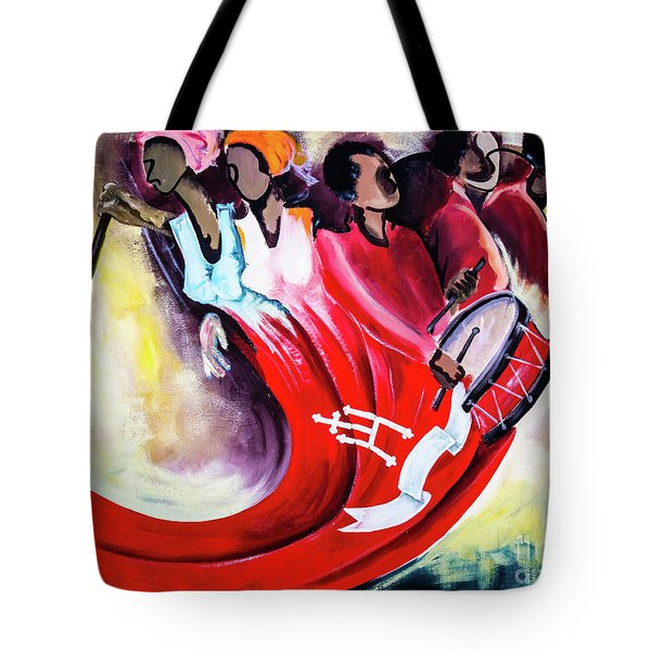 Wall Painting In Fogo, Cape Verde Tote Bag