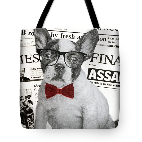 Wall Street Dog, 2015, (screen Printing) Tote Bag