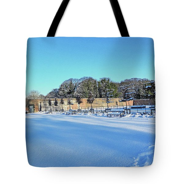 Walled Garden In The Snow Tote Bag