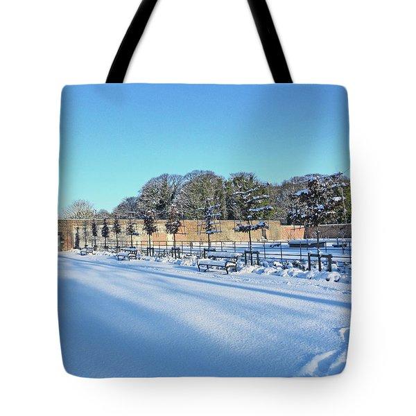 Walled Garden Winter Landscape Tote Bag