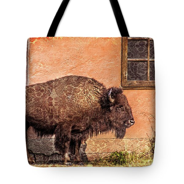 Wallpaper Bison Tote Bag