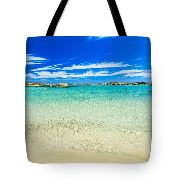 Tote Bag featuring the photograph Wallpaper Sea Background by Benny Marty