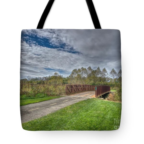 Walnut Woods Bridge - 1 Tote Bag