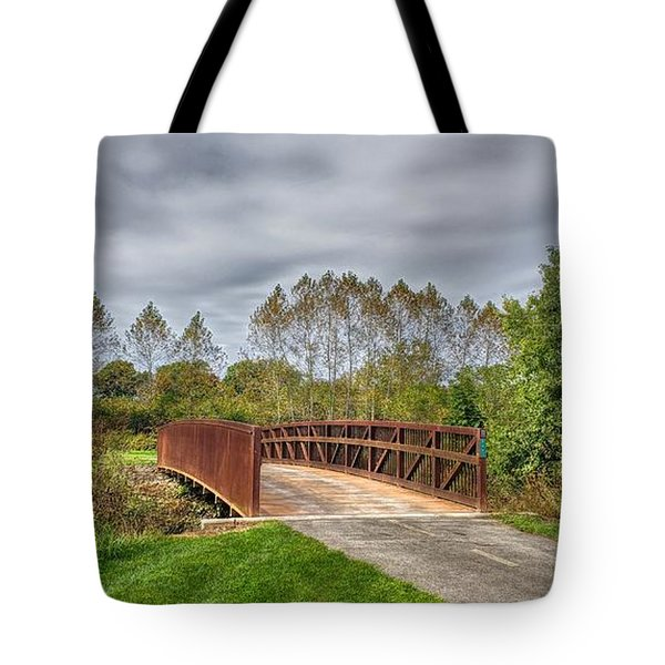 Walnut Woods Bridge - 3 Tote Bag