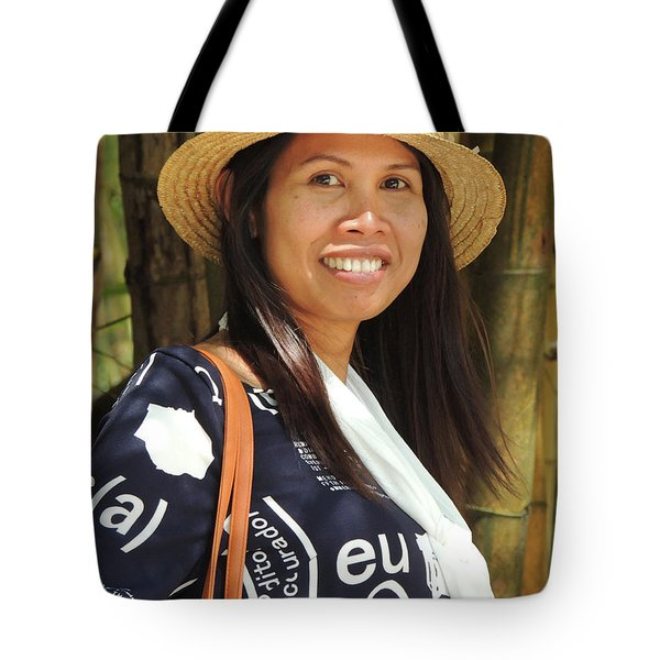 Tote Bag featuring the photograph Waree Smiling Again by Jeremy Holton