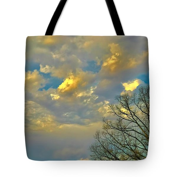 Warm And Cool Sky Tote Bag
