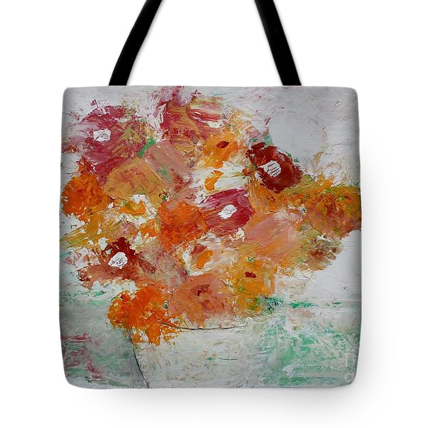 Tote Bag featuring the painting Warm Floral by Kim Nelson