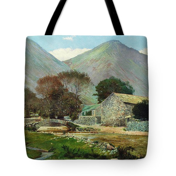 Wasdale Head With Great Gable In The Distance Tote Bag