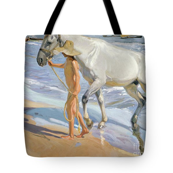 Washing The Horse, 1909 Tote Bag