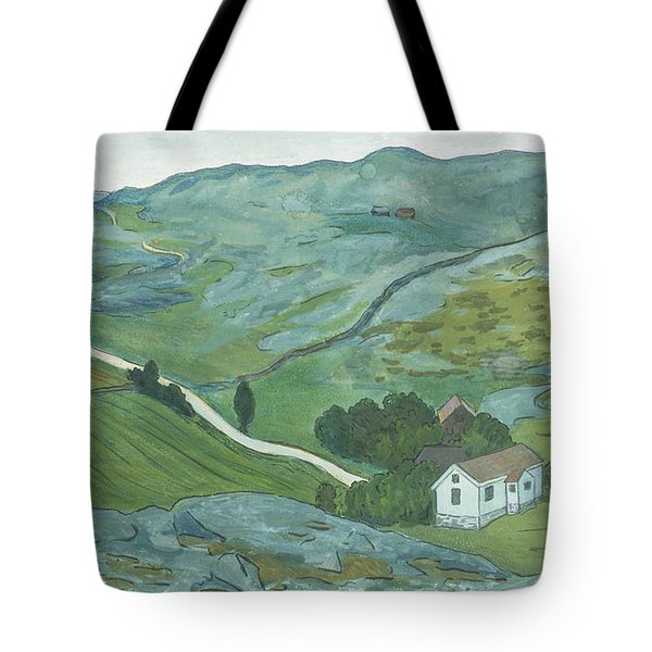Tote Bag featuring the drawing Waste Land by Ivar Arosenius