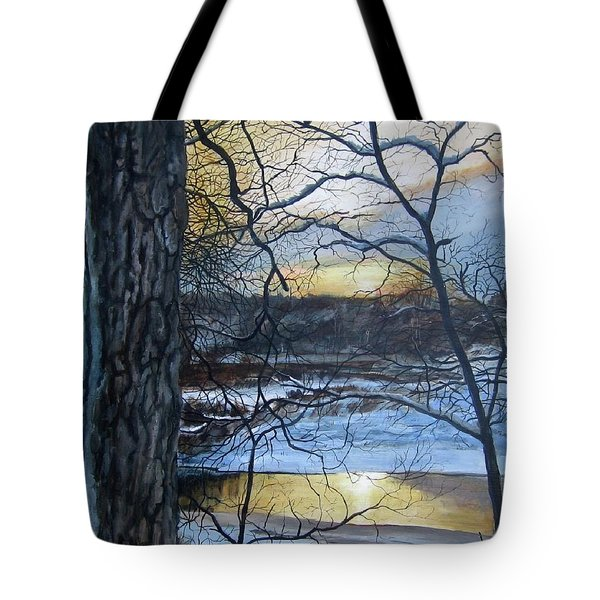 Tote Bag featuring the painting Watcher by William Brody