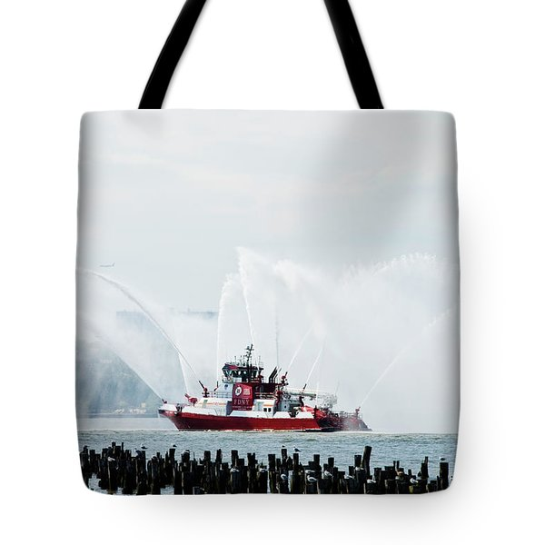 Water Boat Tote Bag