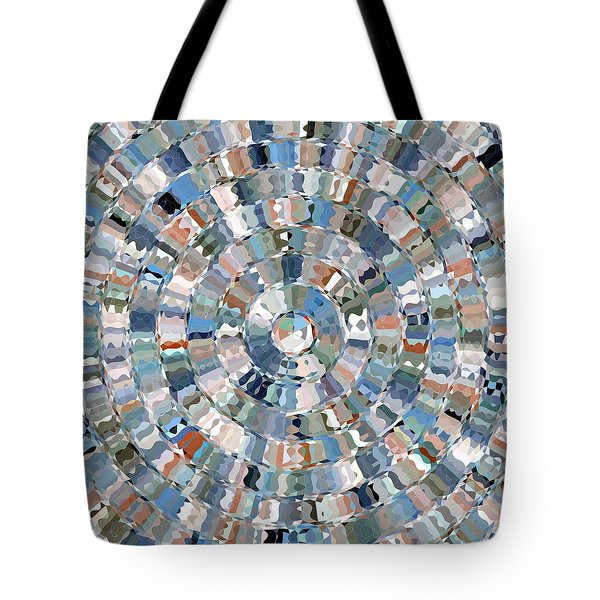 Tote Bag featuring the digital art Water Mosaic by David Manlove