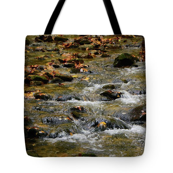 Tote Bag featuring the photograph Water Navigates The Rocks by Raymond Salani III