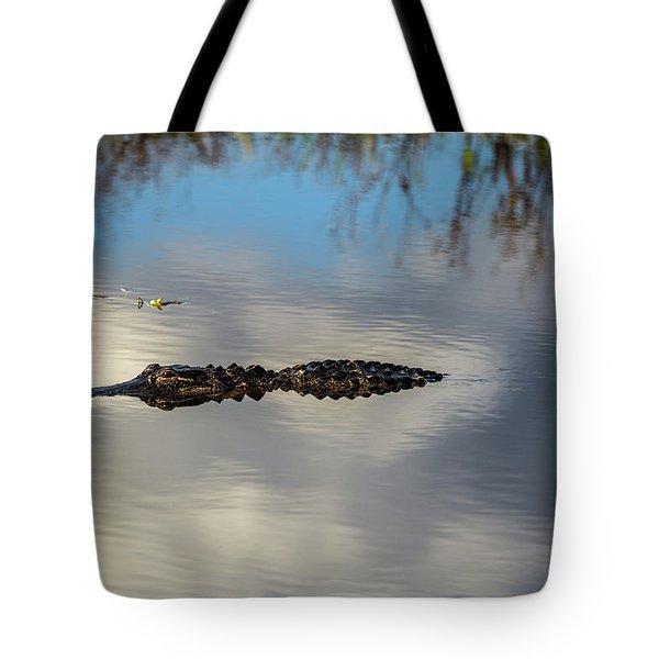 Watery Predator Tote Bag