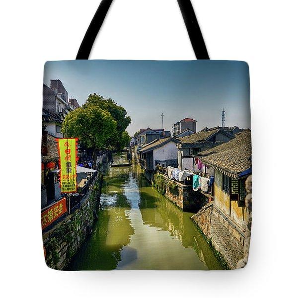 Water Village Tote Bag