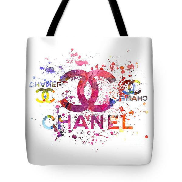 Watercolor Chanel Splash Of Colors Tote Bag