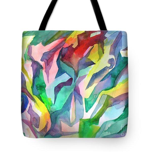 Watercolor Mosaic Tote Bag