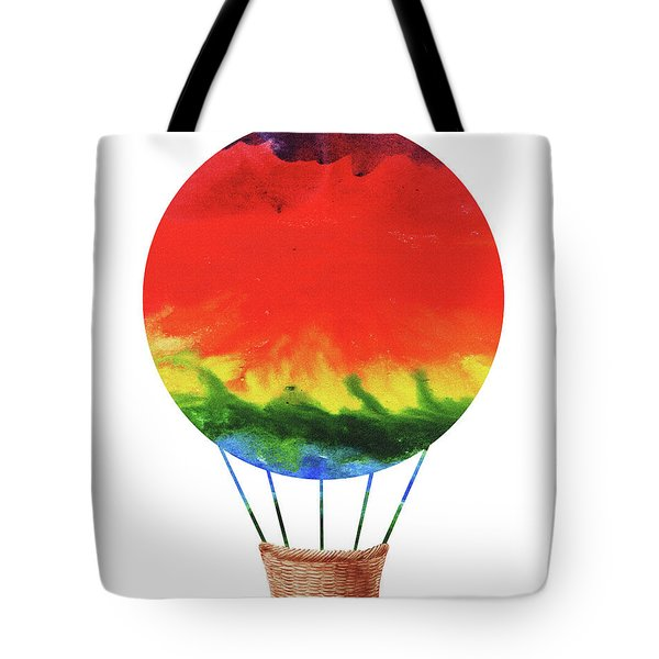 Watercolor Silhouette Hot Air Balloon 1  Tote Bag