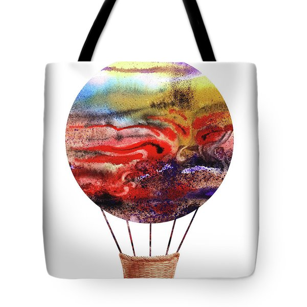 Watercolor Silhouette Hot Air Balloon Iv Tote Bag
