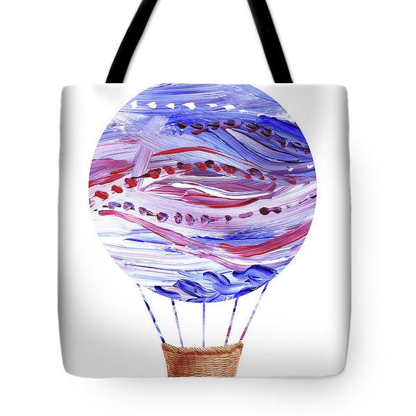 Watercolor Silhouette Hot Air Balloon V Tote Bag