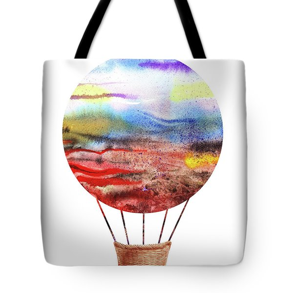 Watercolor Silhouette Hot Air Balloon Vi Tote Bag