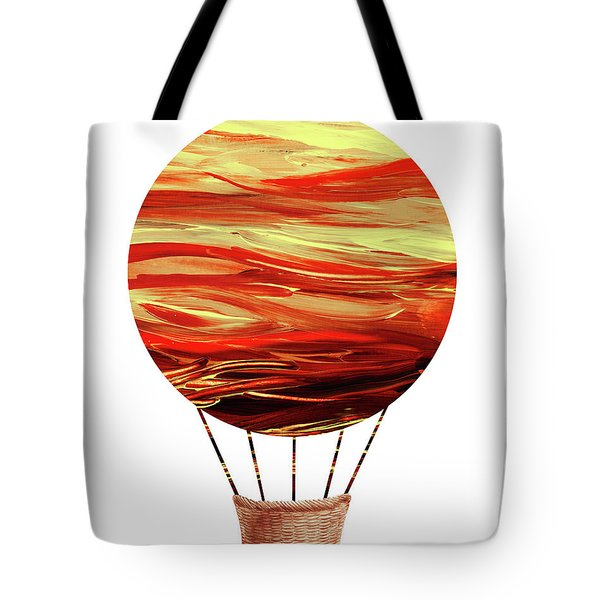 Watercolor Silhouette Hot Air Balloon Vii Tote Bag