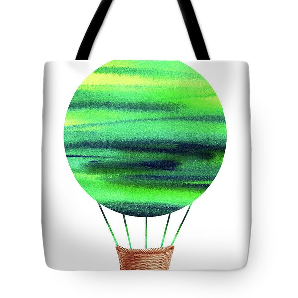 Watercolor Silhouette Hot Air Balloon Viii Tote Bag