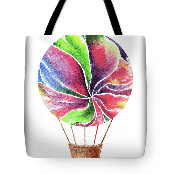 Watercolor Silhouette Hot Air Balloon Xxii Tote Bag