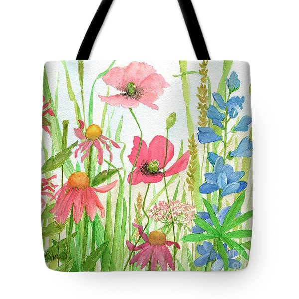Watercolor Touch Of Blue Flowers Tote Bag